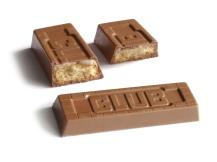 McVitie's Club Mint biscuit (UK version). Broken to show inside.